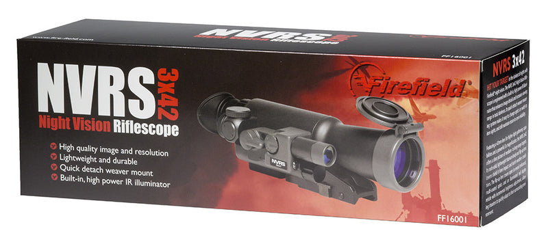 Firefield NVRS 3x42 Gen1+ Night Vision Hunting Scope, carton