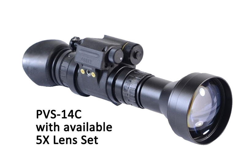 GSCI PVS-14C Multi-Function Gen3 Night Vision Scope, with available 5X Lens Set