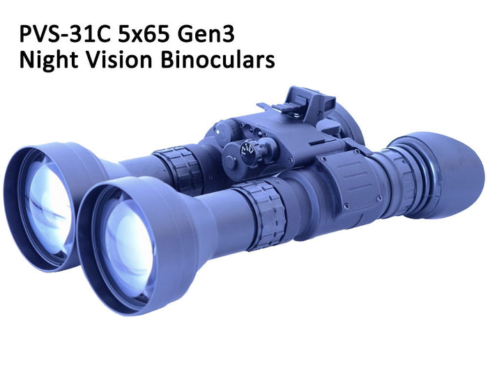 GSCI PVS-31C 5x65 Dual-Tube Gen3 Night Vision Binoculars. Exportable and ITAR-free.