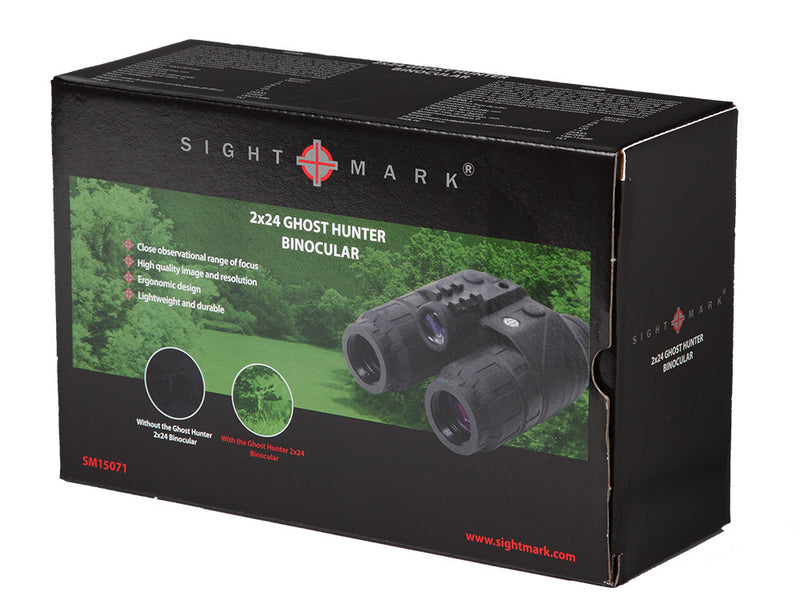Sightmark Ghost Hunter 2x24 Gen1+ Night Vision Binoculars, carton