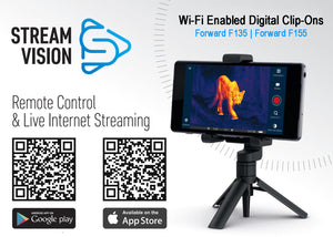Pulsar Forward, Wi-Fi Enabled Digital Clip-On Night Vision Attachment Stream Vision iOS and Android Apps
