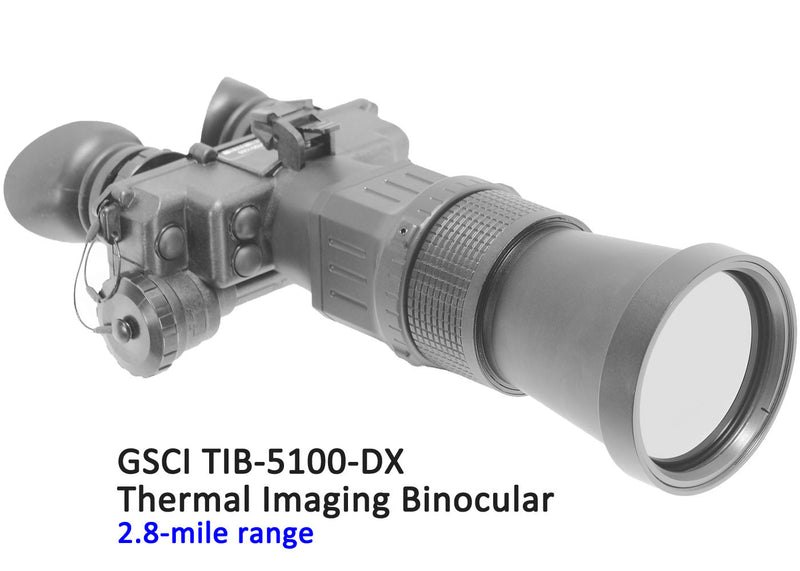 GSCI TIB-5100-DX Thermal Imaging Binocular, 2.8-mile range