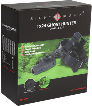 Sightmark Ghost Hunter 1x24 Gen1+ Night Vision Mono-Goggle, carton