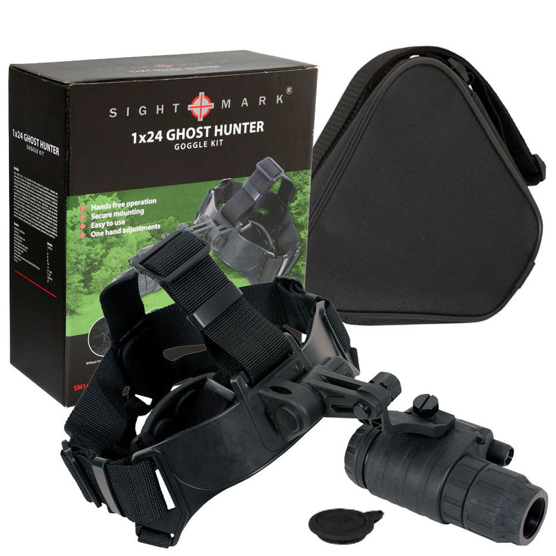 Sightmark Ghost Hunter 1x24 Gen1+ Night Vision Mono-Goggle, full kit