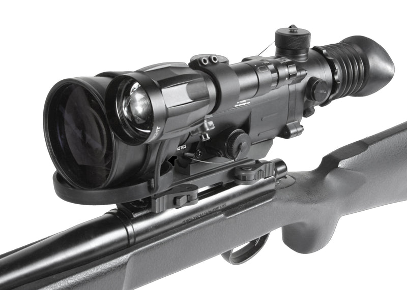 Armasight Vampire 3x108 CORE Hybrid-Gen1+ Night Vision Hunting Scope, shown mounted