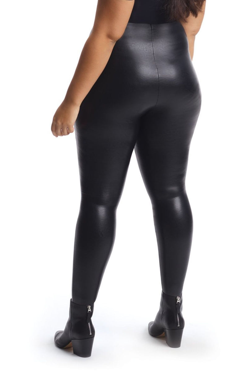 Faux Leather Legging - Black