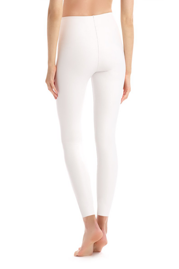Faux Leather Legging - White