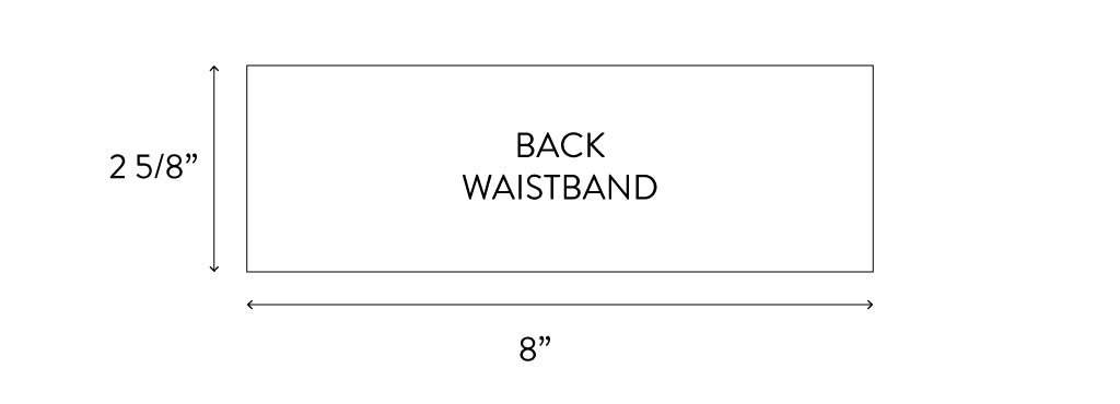 Shift Waistband Dimensions