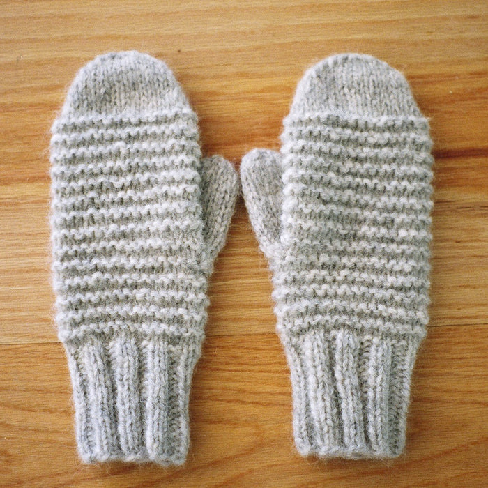Cozy Purl Ridge Mittens Knitting Pattern