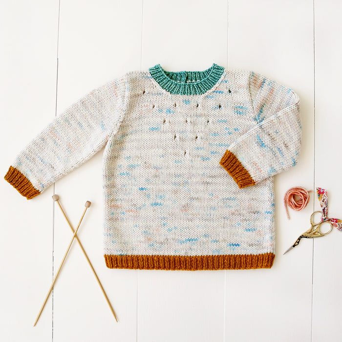 Eyelet Baby Sweater Knitting Pattern