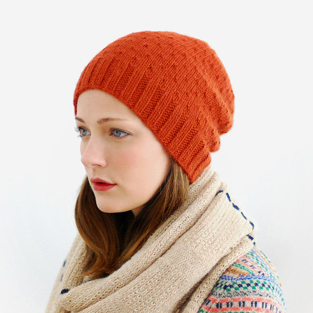 Jul Textured Slouchy Hat Knitting Pattern