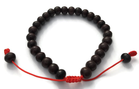 Dark Rosewood Beads Adjustable Wrist Mala Bracelet