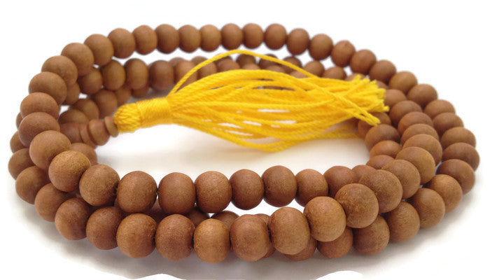 Natural Tibetan Sandalwood 108 Beads Full Mala