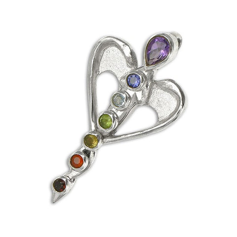 Angel Chakra Sterling Silver Pendant