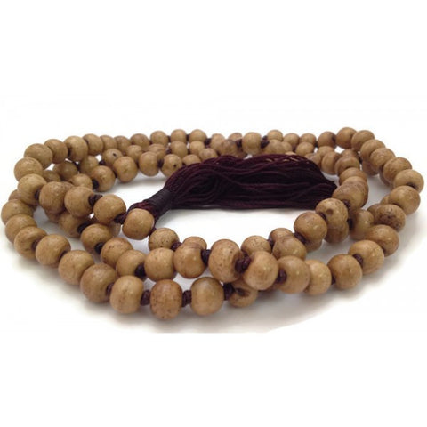 Hand Knotted Tibetan Brown Bone 108 Beads Full Mala