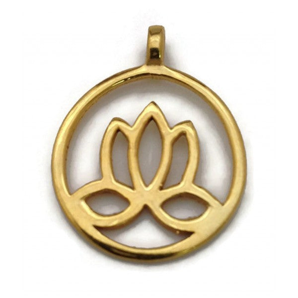 "Lotus Pendant Gold Plated ""Enlightenment"""