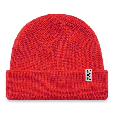 Ribbed Nightwatch Cap/ red
