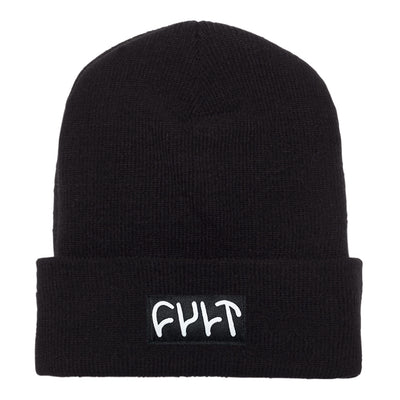 Witness Beanie / tight knit black