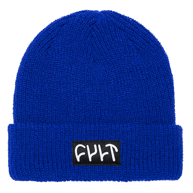 Witness Beanie / ribbed blue