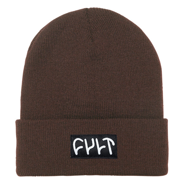 Witness Beanie / tight knit brown