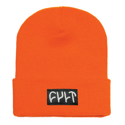 Witness Beanie / tight knit orange