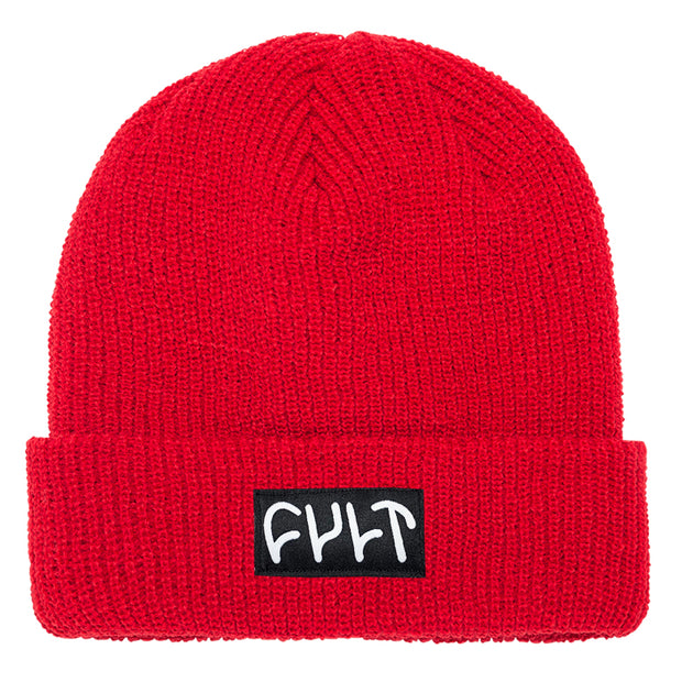 Witness Beanie / ribbed red