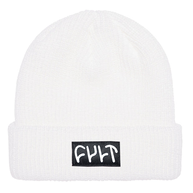Witness Beanie / ribbed white
