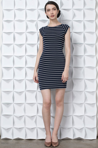Raglan Stripe Short Sleeve Dress