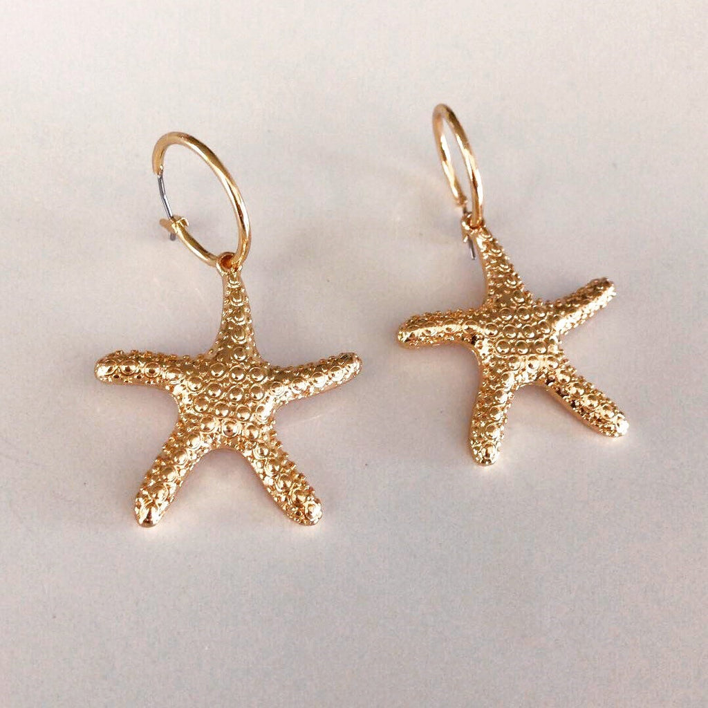 Starfish Hoop Earrings