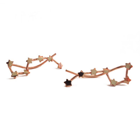 Big Dipper Constellation Ear Climber earrings