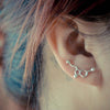 Silver Serotonin Molecule Earrings