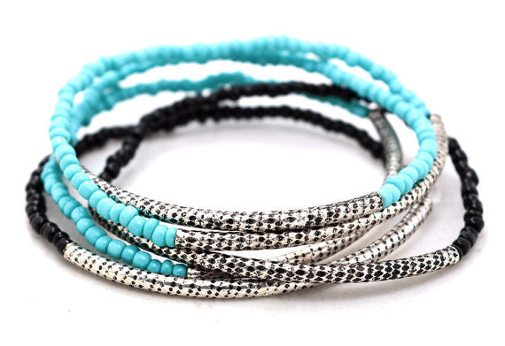 Turquoise Beaded Bracelet Set