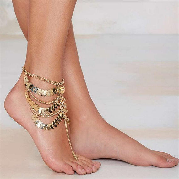 Gold Toe Chain Anklet