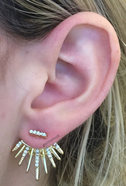 Diamond Spike Ear Jacket