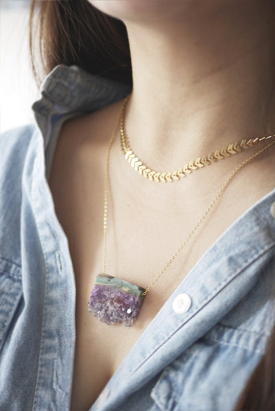 Amethyst Quartz Necklace