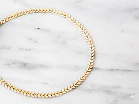 Chloe Chevron Choker Necklace