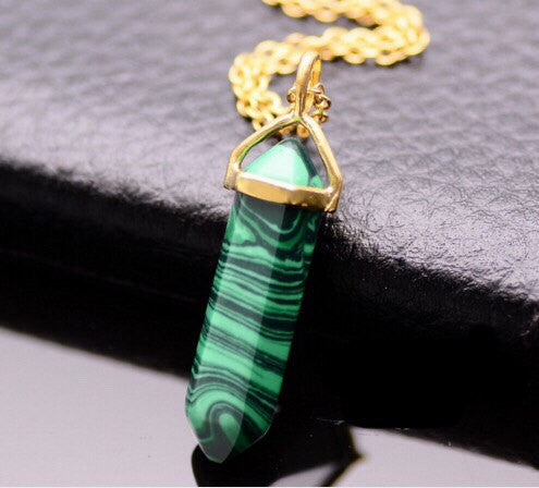Malachite Gemstone Pendant Necklace