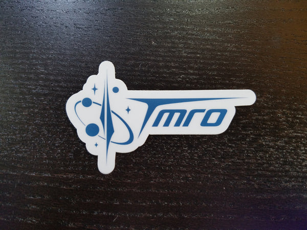 TMRO:Space Die Cut Logo and Font Sticker