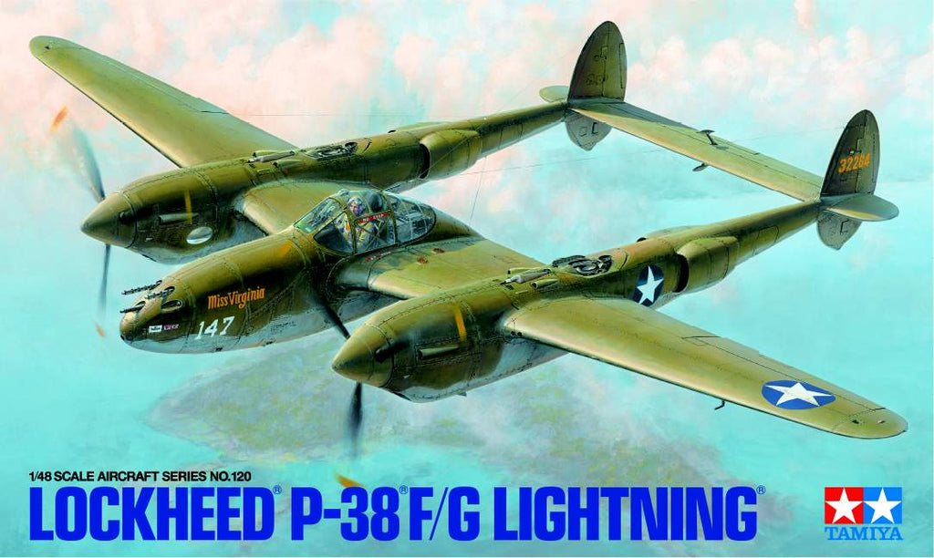 Tamiya Has Announced Their New 1/48 Scale Lockheed P-38®F/G Lightning Kit