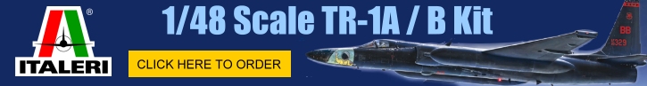 This is a banner for the Italeri  TR-1A/B Kit