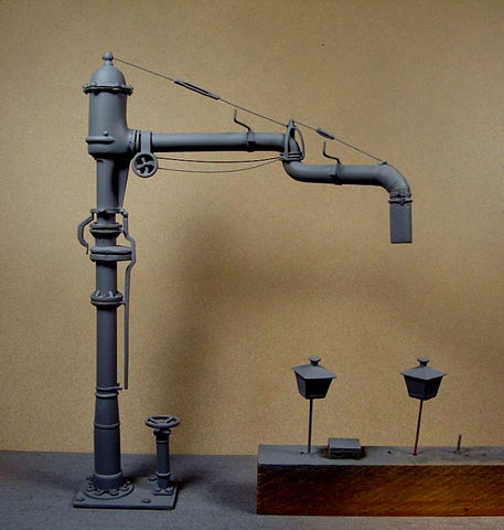 LZ Models 1/35 WWII German Railway Water Crane Kit (Resin)