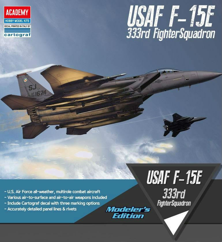 Academy Aircraft 1/72 F15E 333rd FS USAF Fighter Kit