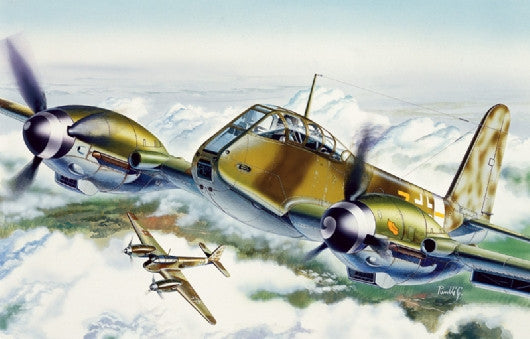Italeri Aircraft 1/72 Me410 Hornisse Fighter Kit