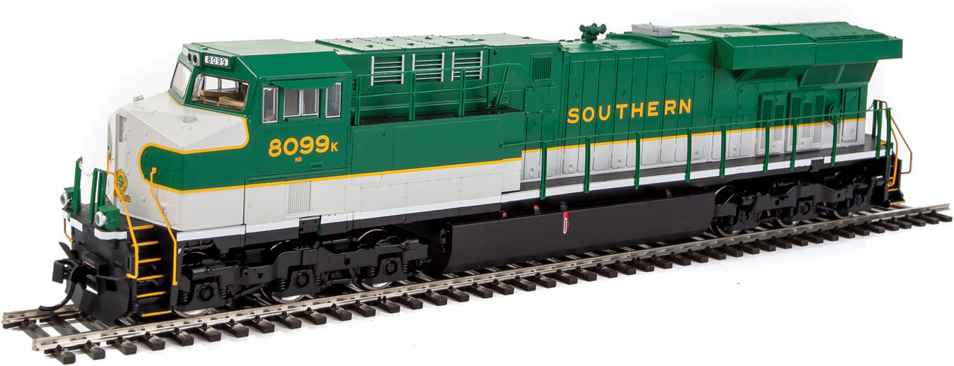 Walthers Mainline HO GE Evolution Series GEVO - Standard DC - Norfolk  Southern ES44AC 8099 (Southern Railway Heritage, Green, White)