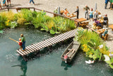 Walthers SceneMaster HO Small Shoreline Pier Laser-Cut Wood Kit
