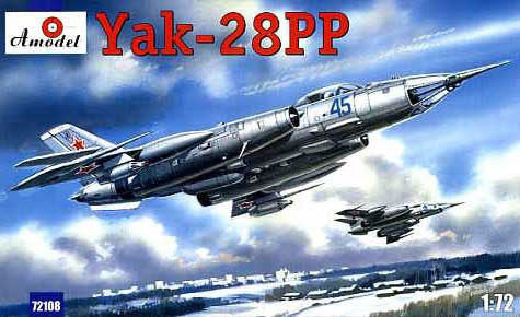 A Model From Russia 1/72 Yak28PP Soviet Light Supersonic Tactical Jammer Aircraft Kit