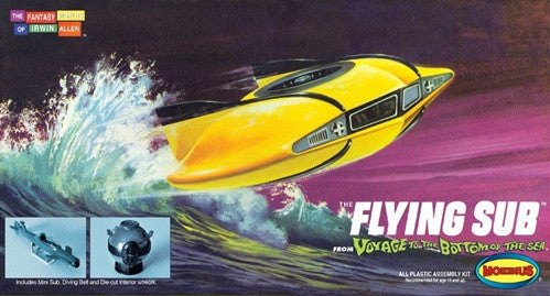 Moebius Sci-Fi Voyage to the Bottom of the Sea: Mini Flying Sub & Diving Bell Kit