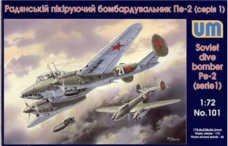 Unimodel Aircraft 1/72 Pe2 Early Soviet Dive Bomber Kit