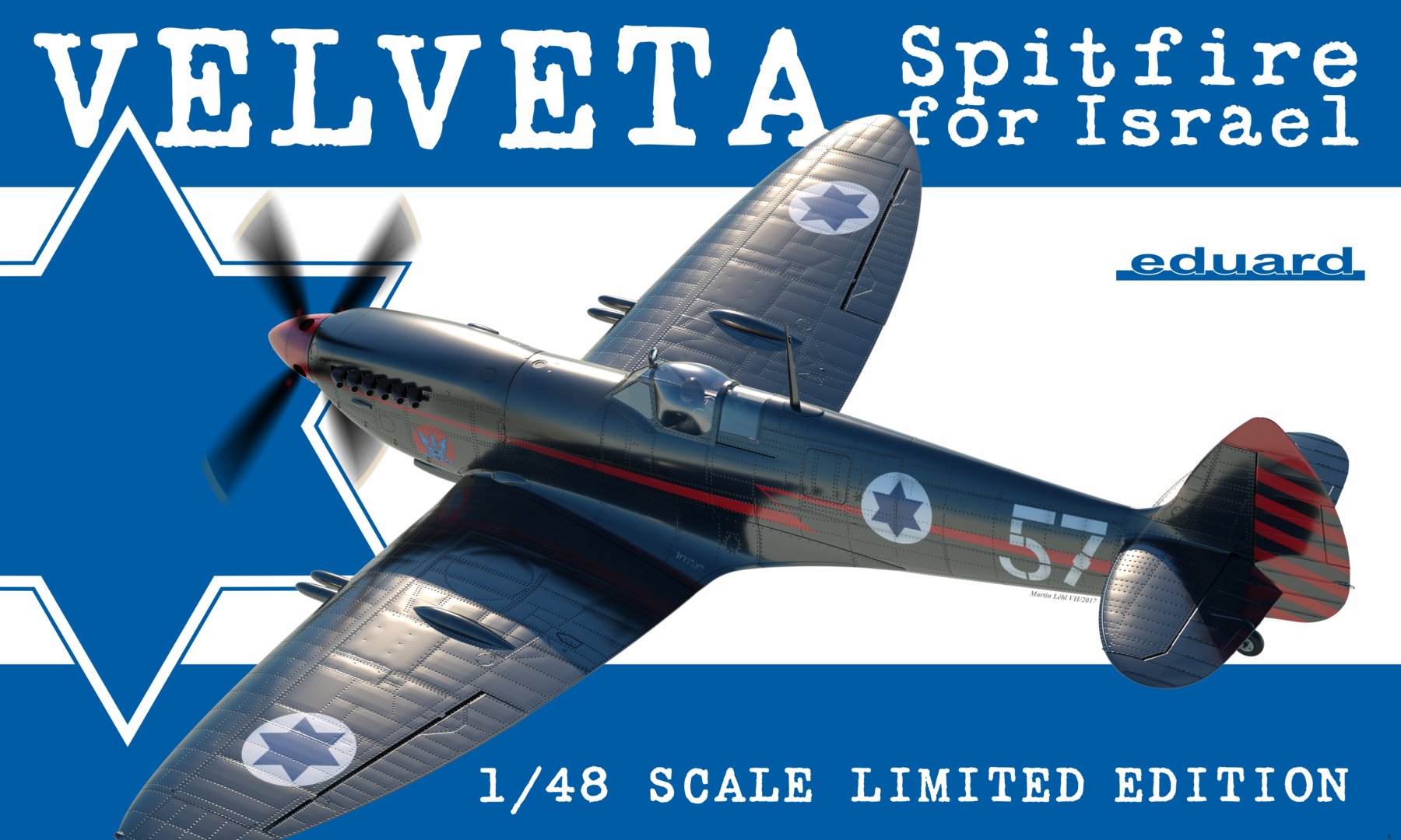 Eduard Aircraft 1/48 Velveta/Spitfire Israel Fighter EduArt Ltd. Edition Kit