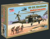 Minicraft Model Aircraft 1/48 UH60L Black Hawk Medical Evacuation US Helicopter Kit